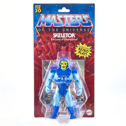 Mattel Masters of the Universe MOTU Origins Retro Play Skeletor Box package front
