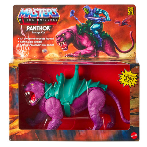 Mattel Masters of the Universe Origins Panthor Savage Cat Box Package Front