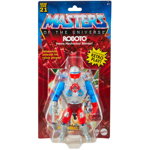 Mattel Masters of the Universe Origins Retro Play Roboto box package front