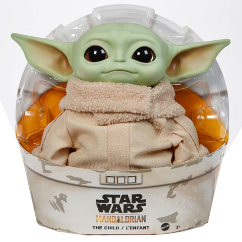 Mattel Star Wars Mandalorian The Child baby yoda lenfant large plush toy doll box package front