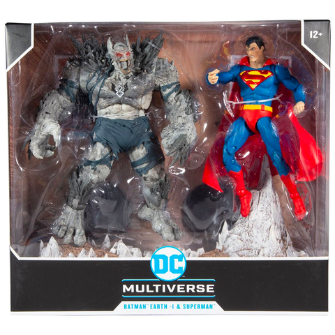 Mcfarlane Toys DC Multiverse Batman Earth-1 Devastator vs Superman 2-pack box package front