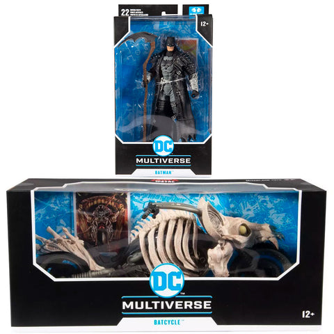 McFarlane Toys DC Multiverse Dark Nights Metal Batcycle & Death Batman bundle box package front