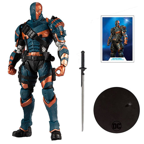 McFarlane Toys DC Multiverse Deathstroke Arkham Origins action figure toy accessories