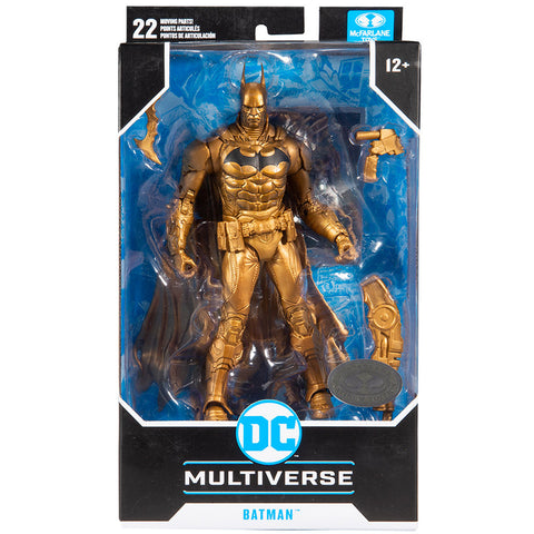 McFarlane Toys DC Multiverse Platinum Edition Batman arkham knight bronze chase variant box package front