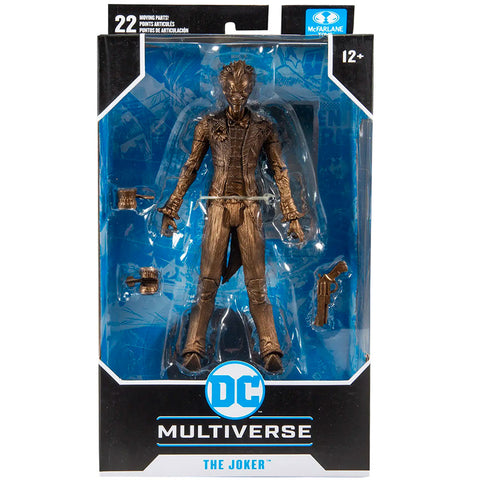 McFarlane Toys DC Multiverse Platinum Edition The Joker Batman: Arkham Asylum bronze copper chase variant box package front