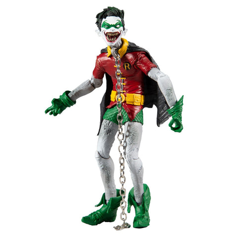 Mcfarlane Toys DC Multiverse Robin Crow Earth-22 Dark Nights: Metal laugh face action figure toy front
