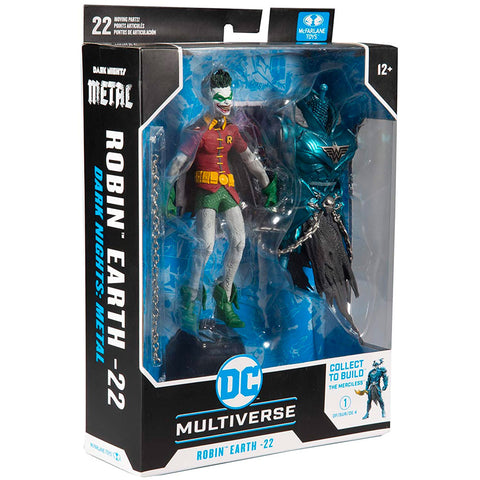 Mcfarlane Toys DC Multiverse Robin Crow Earth-22 Dark Knights: Metal smirk face box package front