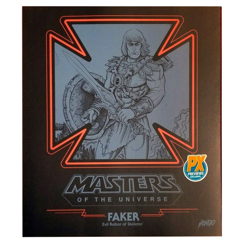 Mondo MOTU Masters of the Universe Faker Regular box package front
