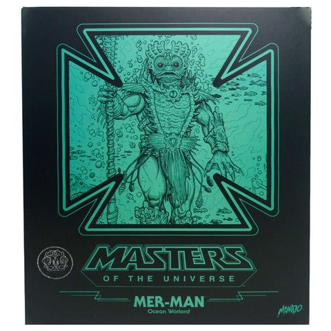 Mondo MOTU masters of the universe mer-man exclusive box package front