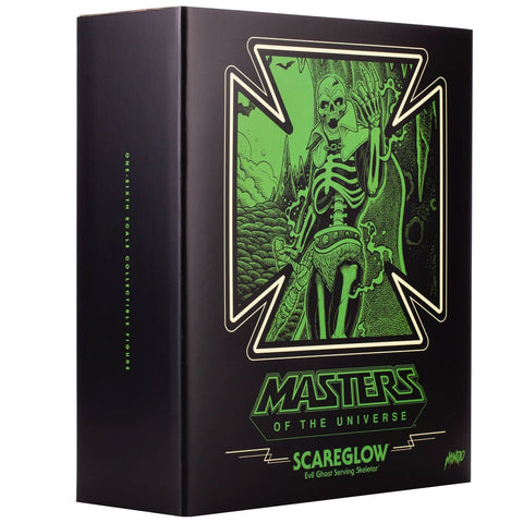 Mondo MOTU masters of the Universe Scareglow exclusive Box package Angle