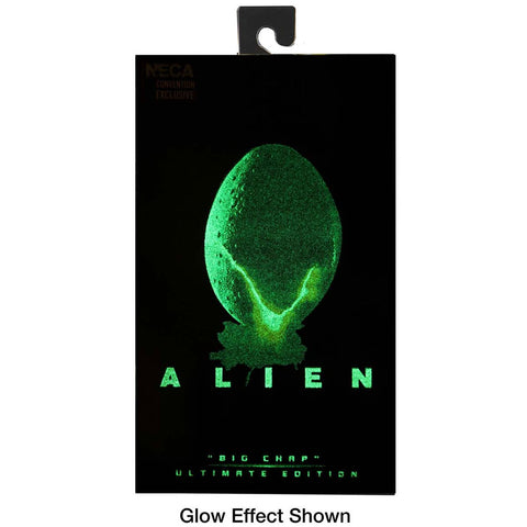 NECA SDCC 2020 Alien big Chap Glow in the dark box package front glowing