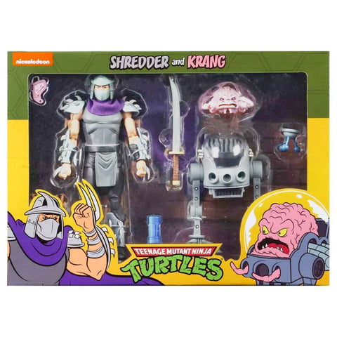 NECA TMNT Teenage Mutant Ninja Turtles Shredder and Krang cartoon 2-pack exclusive target box front package