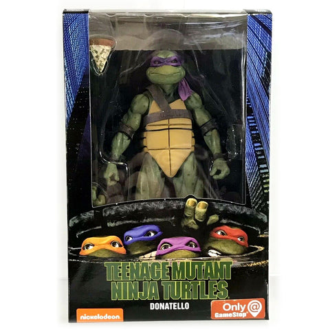 NECA Gamestop TMNT 90's Movie Teenage Mutant Ninja Turtle Donatello Box Package