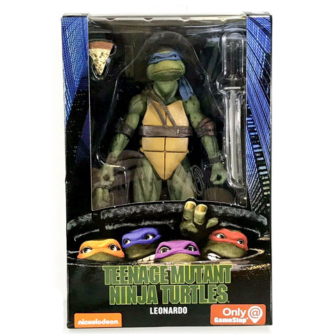 NECA Gamestop TMNT 90's Movie Teenage Mutant Ninja Turtle Leonardo Package Box