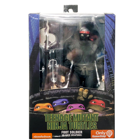 NECA TMNT Teenage Mutant Ninja Turtles 90s Movie Foot Soldier Bladed Weapons Box Package Front