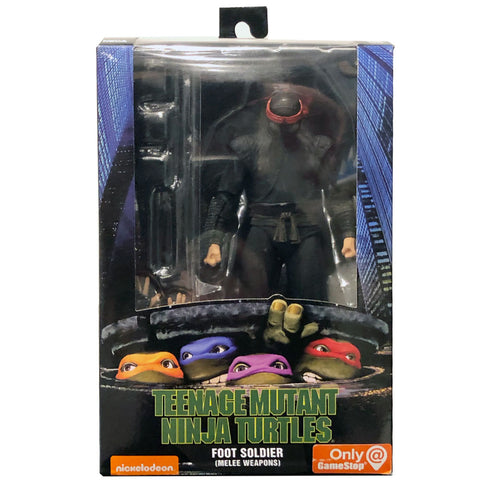 NECA TMNT Teenage Mutant Ninja Turtles 90s Movie Foot Soldier Melee Weapons Box Package Front