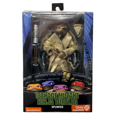 NECA TMNT Teenage Mutant Ninja Turtles 90s Movie Splinter Box Package Front