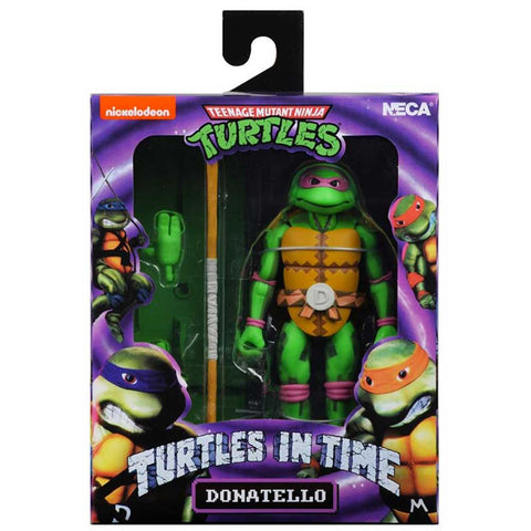 NECA TMNT Teenage Mutant Ninja Turtles In Time Donatello Video Game Box Package Front
