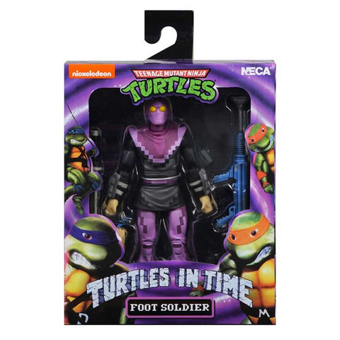 NECA TMNT Teenage Mutant Ninja Turtles In Time Foot Soldier Trooper Video Game Box Package Front