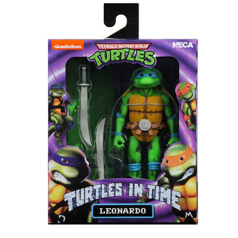 NECA TMNT Teenage Mutant Ninja Turtles In Time Leonardo Video Game Box Package Front