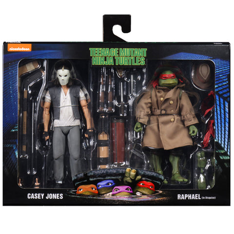 NECA Teenage Mutant Ninja Turtles Casey Jones Raphael In Disguise Box Package Front