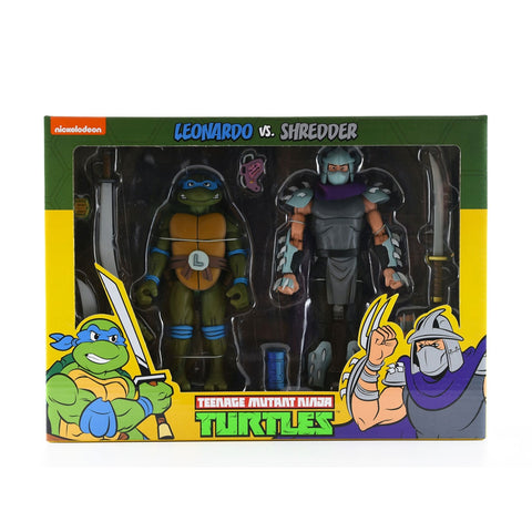 NECA TMNT Teenage Mutant Ninja Turtles Leonardo vs. Shredder two-pack Target exclusive Box Package Front