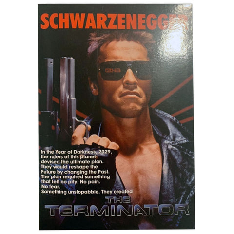 NECA The Terminator Ultimate Tech Noir Box Package Front