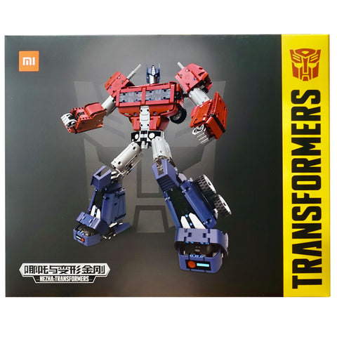 Transformers Nezha Cybervere Optimus Prime Xiaomi building block box package front china