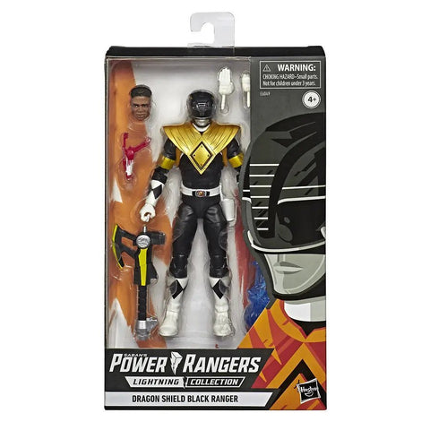 Hasbro Power Rangers Lightning Collection Dragon Shield Black Ranger Box Package