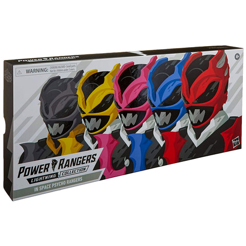 Hasbro Power Rangers In Space Lightning Collection Pyscho Rangers 5-pack Amazon Giftset box package front