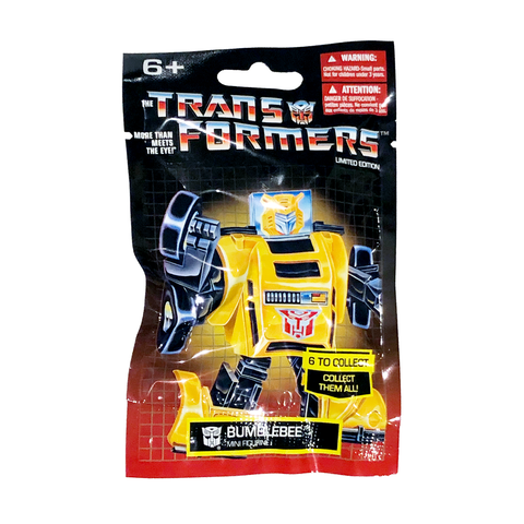 Prexio Transformers G1 Generation 1 Bumblebee Mini Figurine Bag Package