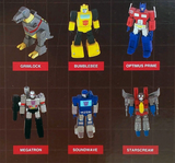 Prexio Transformers G1 Generation 1 Mini Figurines Complete set of 6 toys