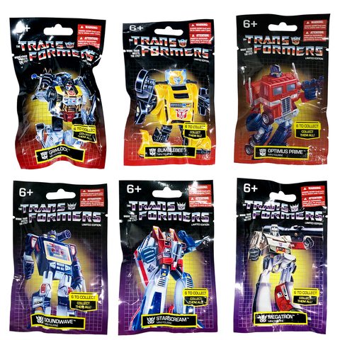 Prexio Transformers G1 Mini Figurines - 6 Toy Bundle