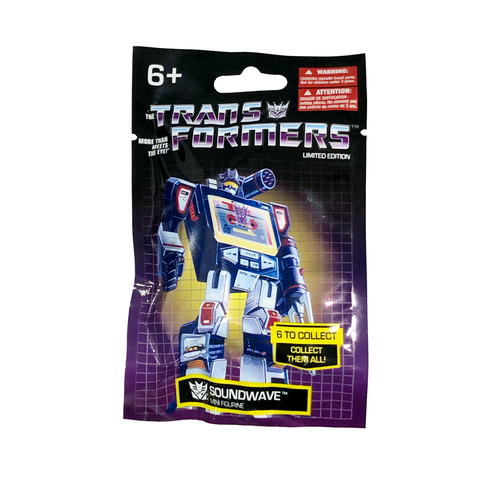 Prexio Transformers G1 Generation 1 Soundwave Mini Figurine Bag Package