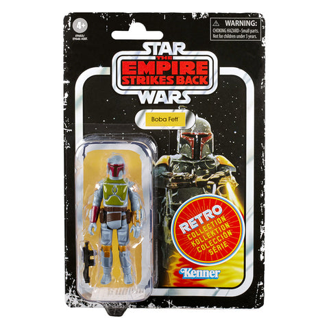 Hasbro Star Wars Retro Collection The Empire Strikes Back boba Fett prototype color box package Front