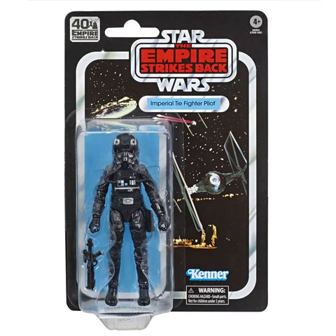 Hasbro Star Wars The Black Series 40th Anniversary Empire Strikes Back TESB Imperial Tie Fighter Pilot Box Package Front