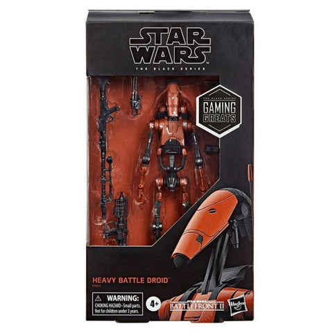 Hasbro Star Wars The Black Series Gaming Greats Battlefront II Red Heavy Battle Droid Box Package Front