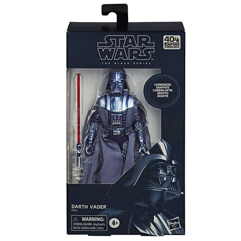 Hasbro Star Wars TESB Empire 40th Anniversary Darth Vader Carbonized Collection Box Package Front