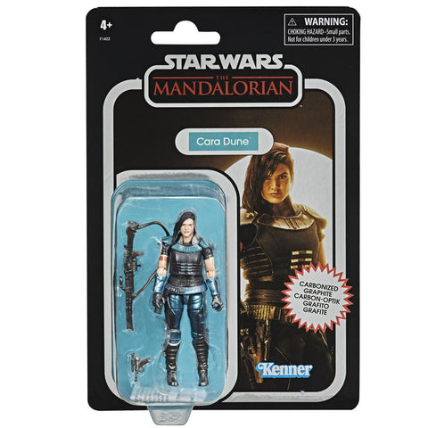 Star Wars TVC The Vintage COllection Carbonized Cara Dune Walmart Exclusive Box Package Front