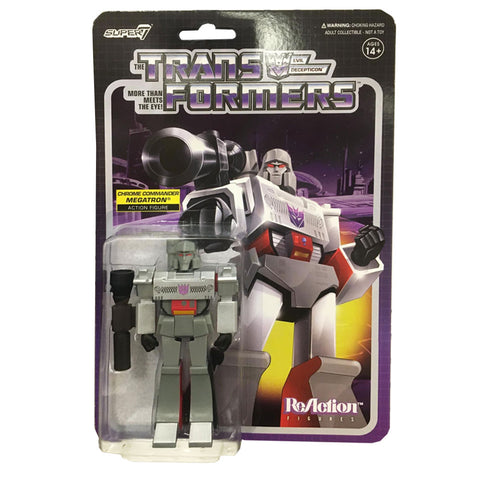 Super 7 Transformers G1 Chrome Commander Megatron Reaction toy box package front