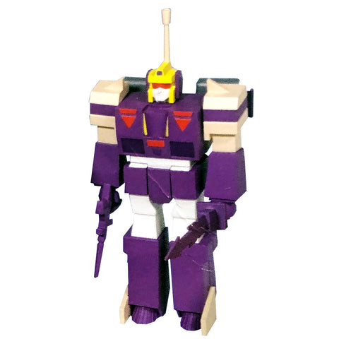Super 7 ReAction Transformers G1 Blitzwing Action Figure toy promo