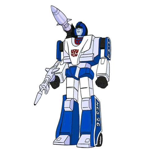 Reaction Super 7 G1 Transformers Mirage artwork not real