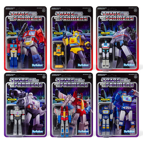 Super 7 Transformers G1 Wave 1 - 6 Figure Bundle
