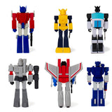 Super 7 ReAction Transformers G1 Wave 1 complete set of 6 toy Back