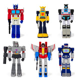 Super 7 ReAction Transformers G1 Wave 1 complete set of 6 toy front