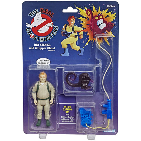The Real Ghostbusters Ray Stantz and Wrapper Ghost reissue walmart box package Front