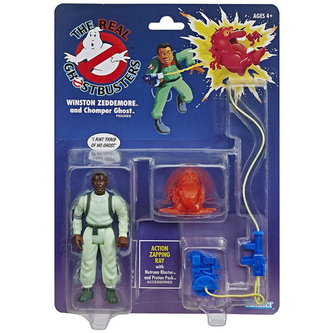 Hasbro The Real Ghostbusters Winston Zeddemore and Chomper Ghost walmart reissue box package front