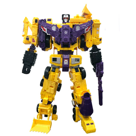 CBB downsized G2 Yellow CW Devy Combiner Robot toy front Coolchange A Field army 3rd third party