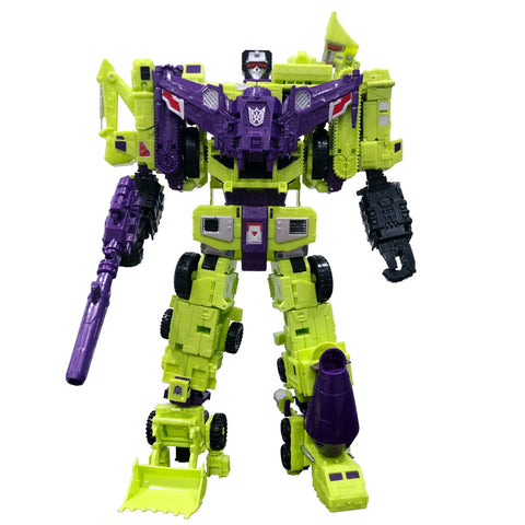 CBB 3rd Third Party Downsized CW combiner green devy a field army robot toy gestlat 12-inch front