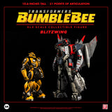 ThreeA Transformers Movie Bumblbee Decepticon Blitzwing Deluxe Sized figure with bumblebee